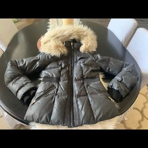 $398 Juicy Couture Puffer Parka Jacket Coat Medium